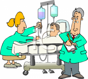 0511-0810-2317-3415_Cartoon_of_a_Man_in_the_Hospital_clipart_image