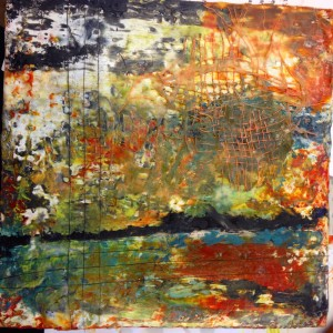 encaustic1 with collage