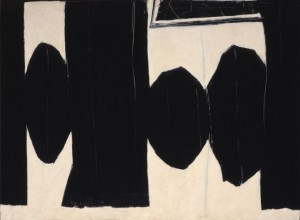 Robert Motherwell, At Five in the Afternoon, 1950. Oil on hardboard.